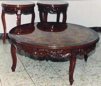 Mesas de centro arte muebles for Recamaras estilo luis 15