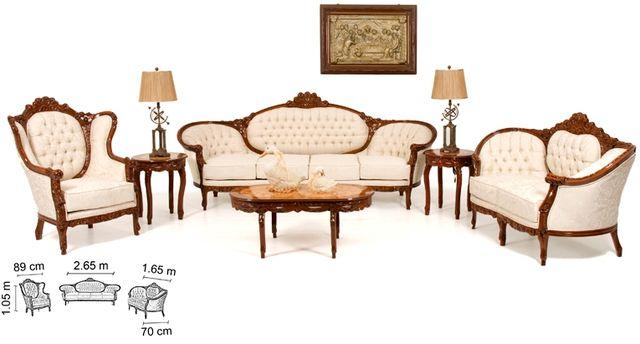 Sala luis xv ovalos arte muebles for Muebles de oficina luis xv